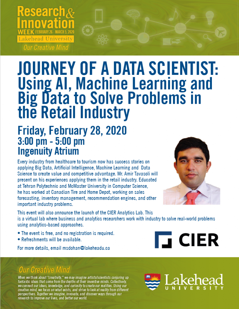 JOURNEY OF A DATA SCIENTIST: Using AI, Machine Learning and Big Data to Solve Problems in the Retail Industry